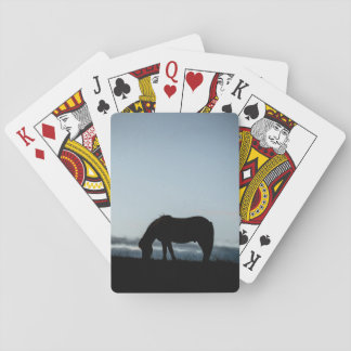 Icelandic horse grazing playing cards