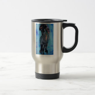 Icelandic Horse in tolt Travel Mug