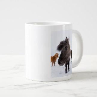 Icelandic Horse portrait, Iceland Large Coffee Mug