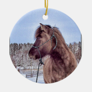 Icelandic Horse Power Christmas Ornament
