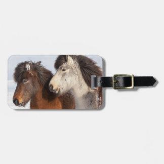 Icelandic Horse profile, Iceland Luggage Tag