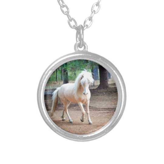 Icelandic Horse Silver Plated Necklace