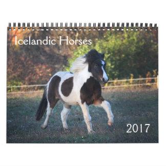 Icelandic Horses - 2017 Calendar