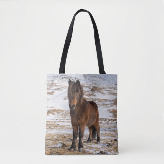Icelandic Horses in Winter Tote Bag