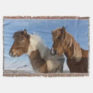 Icelandic horses throw blanket