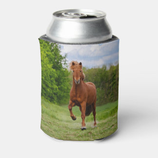 Icelandic Pony at Tölt Funny Photo Horse _ Bawdle Can Cooler