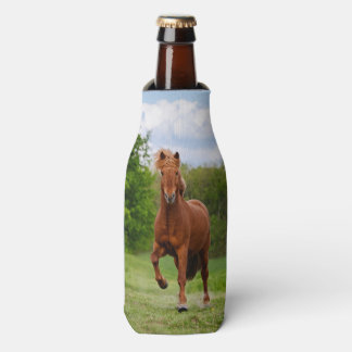 Icelandic Pony at Tölt Funny Photo Horse Lovers - Bottle Cooler
