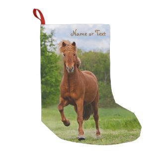 Icelandic Pony Tölt Funny Photo Horse - Name Small Christmas Stocking