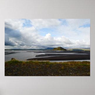 Icelandic scenery poster