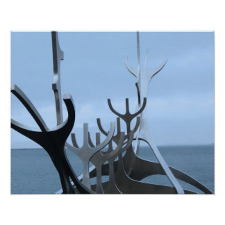 Icelandic Sculpture Poster