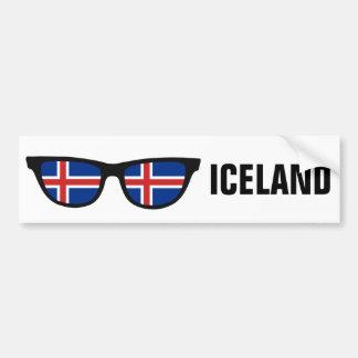 Icelandic Shades custom text & color bumpersticker Bumper Sticker