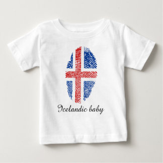 Icelandic touch fingerprint flag baby T-Shirt