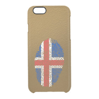 Icelandic touch fingerprint flag clear iPhone 6/6S case