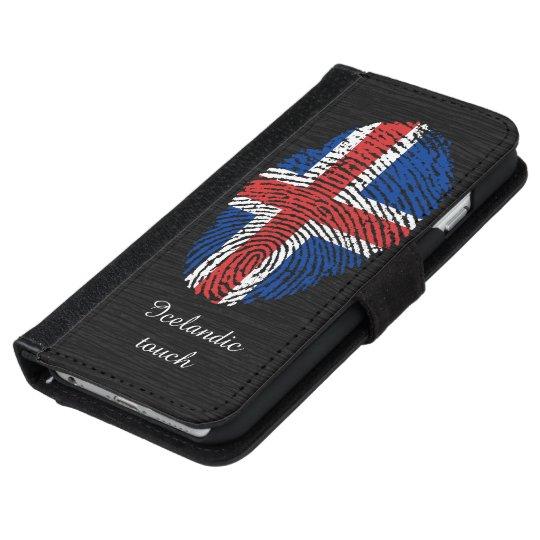 Icelandic touch fingerprint flag iPhone 6 wallet case