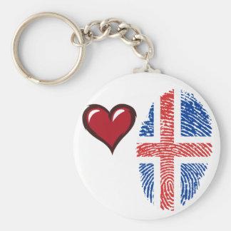 Icelandic touch fingerprint flag key ring