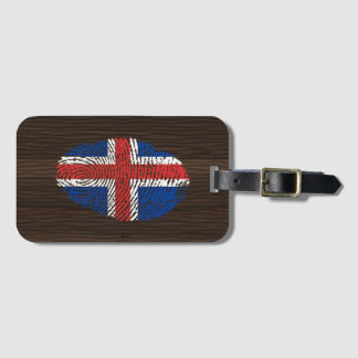 Icelandic touch fingerprint flag luggage tag