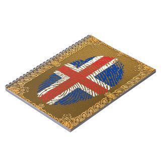 Icelandic touch fingerprint flag notebooks