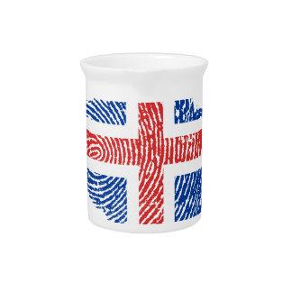 Icelandic touch fingerprint flag pitcher