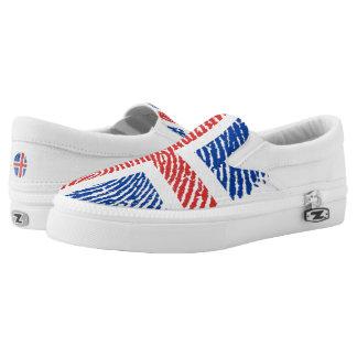 Icelandic touch fingerprint flag slip on shoes
