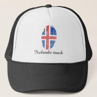 Icelandic touch fingerprint flag trucker hat