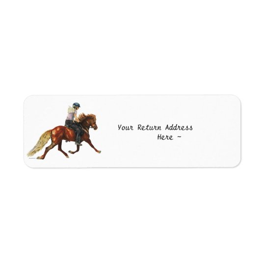 Icelandic Trot Return Address Label