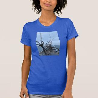 Icelandic Viking Ship Sculpture Tshirts