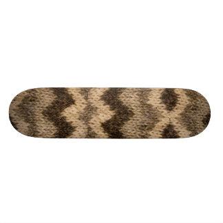 Icelandic wool pattern custom skateboard