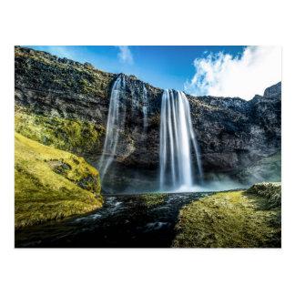 Iceland's Famous Seljalandsfoss Waterfall Postcard
