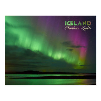 Iceland's Northern Lights Post Card