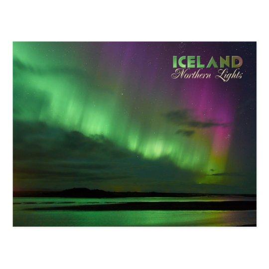 Iceland's Northern Lights Postcard