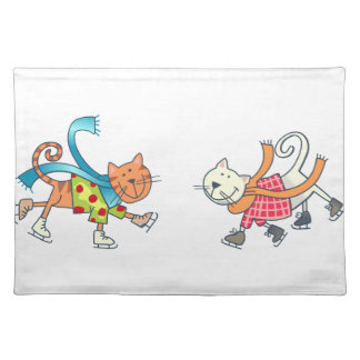 ICESKATING CATS PLACEMAT