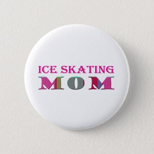 IceSkatingMom 6 Cm Round Badge