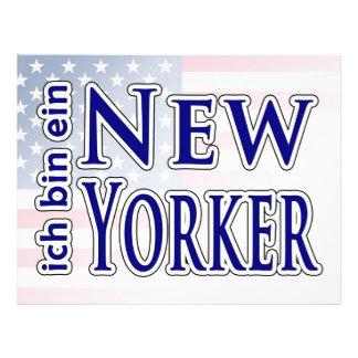 """""""ich bin ein New Yorker"""" 21.5 Cm X 28 Cm Flyer"""
