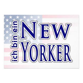 ich bin ein New Yorker Custom Announcement