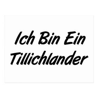 Ich Bin Ein Tillichlander Postcard
