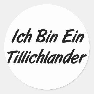 Ich Bin Ein Tillichlander Stickers