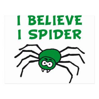 Ich glaub ich spinne - i believe i spider postcard