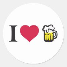 Ich liebe Bier 2c Aufkleber