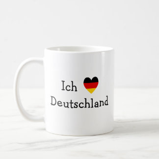 Ich liebe Deutschland Basic White Mug