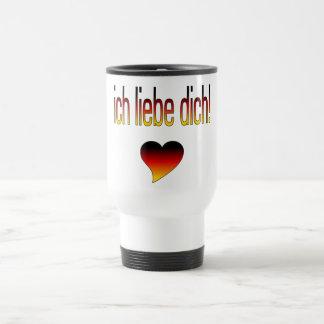 Ich Liebe Dich! German Flag Colors Mug