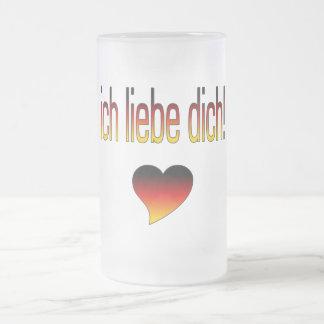 Ich Liebe Dich! German Flag Colors Coffee Mug