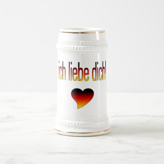 Ich Liebe Dich! German Flag Colors Coffee Mugs