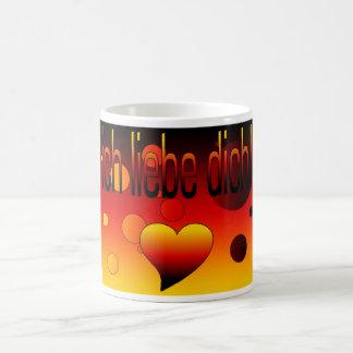 Ich Liebe Dich! German Flag Colors Pop Art Mug