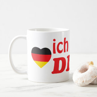 ICH LIEBE DICH GERMAN HEART FLAG COFFEE MUG