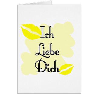 Ich Liebe Dich - German I love you Card