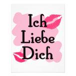 Ich Liebe Dich - German I love you Custom Invites
