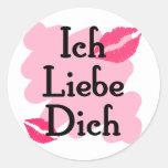 Ich Liebe Dich - German I love you Round Sticker