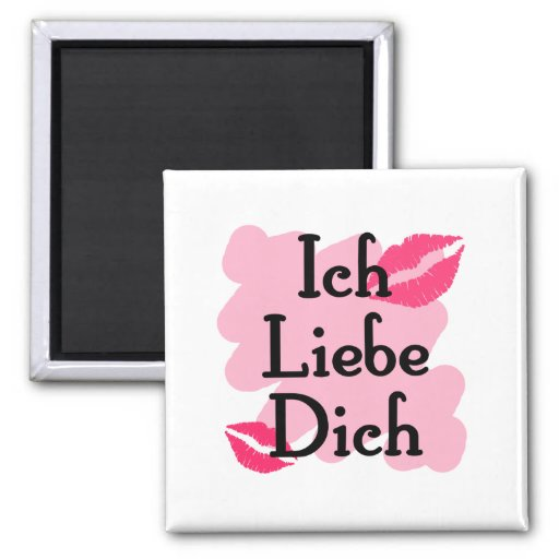 Ich Liebe Dich - German I love you Square Magnet