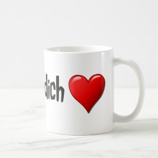 Ich liebe dich - I love you in German Coffee Mug