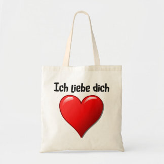 Ich liebe dich - I love you in German Tote Bag